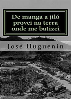 livro de manga a jilo provei na terra onde me batizei - jose huguenin